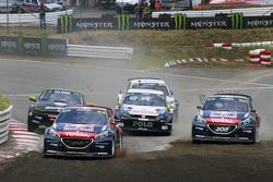 Davy Jeanney und Timmy Hansen, Team Peugeot Hansen