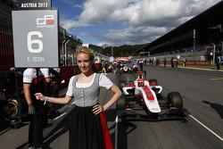 Grid girl for Esteban Ocon, ART Grand Prix