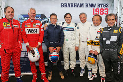 Drivers at the Legends Parade Gerhard Berger,; Christian Danner,; Jean Alesi,; Nelson Piquet,; Ricca