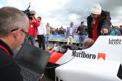 Niki Lauda, Mercedes Non-Executive Chairman with the McLaren MP4/2 at the Legends Parade