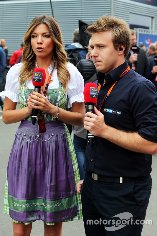 Federica Masolin, Sky F1 Italia Presenter with Davide Valsecchi, Sky F1 Italia Presenter