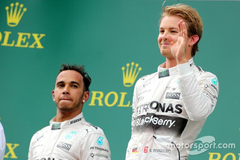 Nico Rosberg, Mercedes AMG F1 Team, und Lewis Hamilton, Mercedes AMG F1 Team