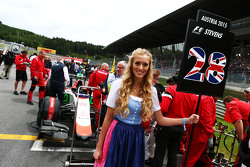 Grid girl for Will Stevens, Manor F1 Team