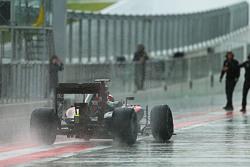 Stoffel Vandoorne, McLaren MP4-29H Piloto de Prueba y Reserva en la fuerte lluvia