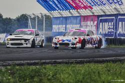 Артур Мелкумян, Nissan Silvia S13 и Иван Куренбин, Mazda RX-7