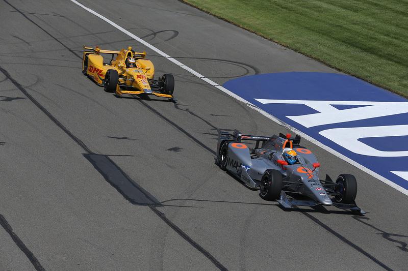 Ryan Hunter-Reay, Andretti Autosport, Honda, und James Jakes, Schmidt Peterson Motorsports