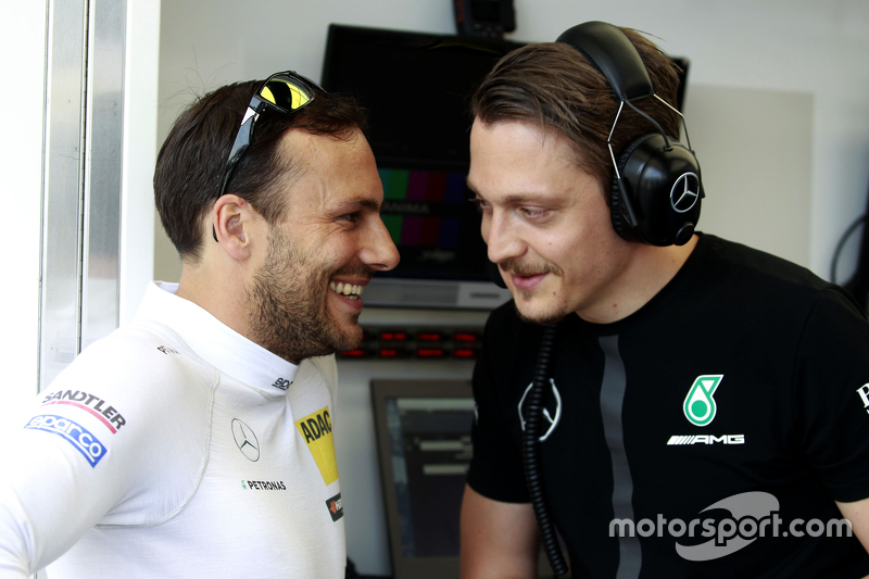 Gary Paffett, ART Grand Prix Mercedes-AMG C63 DTM with Gaëtan Jego, ART Grand Prix Technical Director