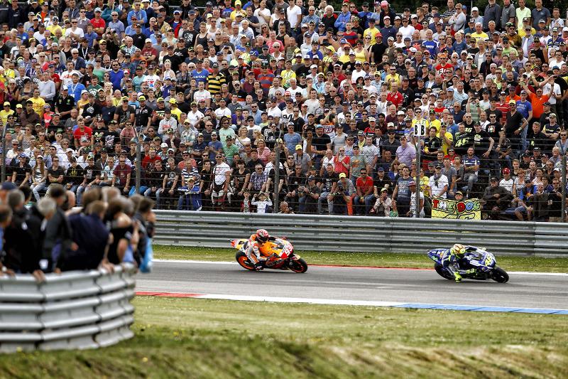 Valentino Rossi, Yamaha Factory Racing y Marc Márquez, Repsol Honda Team