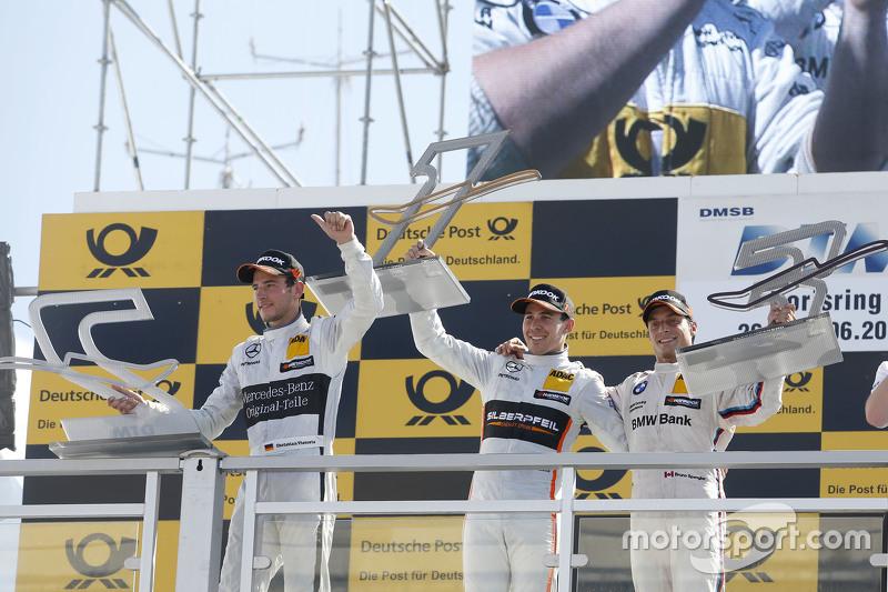 Podium, 2nd Christian Vietoris, HWA AG Mercedes-AMG C63 DTM, 1st Robert Wickens, HWA AG Mercedes-AMG