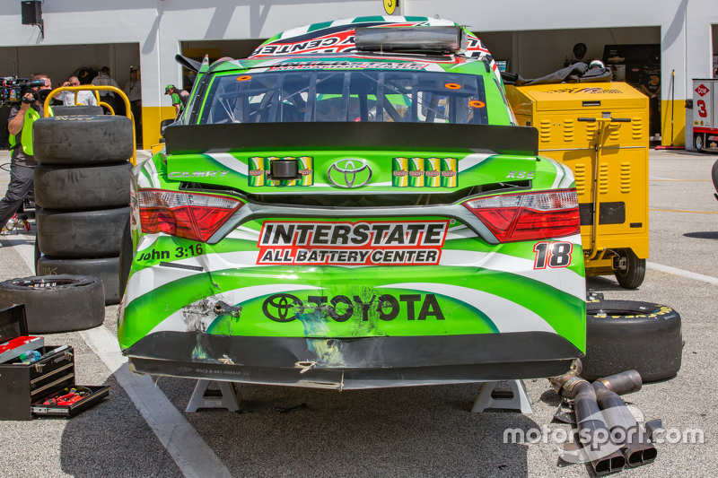 Kerusakan mobil Kyle Busch, Joe Gibbs Racing Toyota