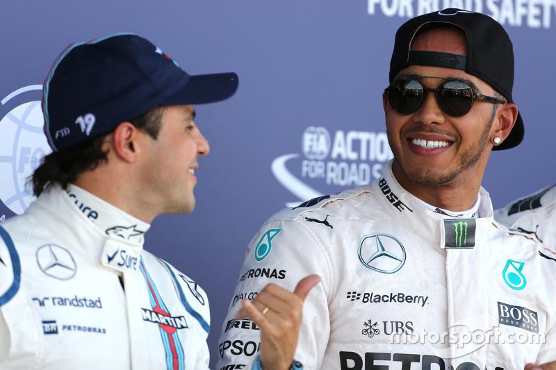 Lewis Hamilton, Mercedes AMG F1 Team e Felipe Massa, Williams F1 Team