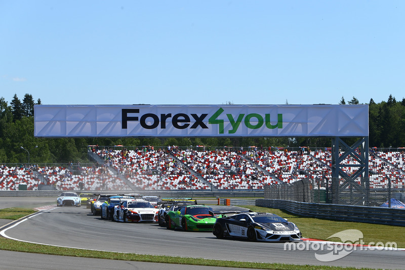 Start: #88 Reiter Engineering, Lamborghini Gallardo LP560-4 R-EX: Albert von Thurn und Taxis, Nicky Catsburg, in Führung