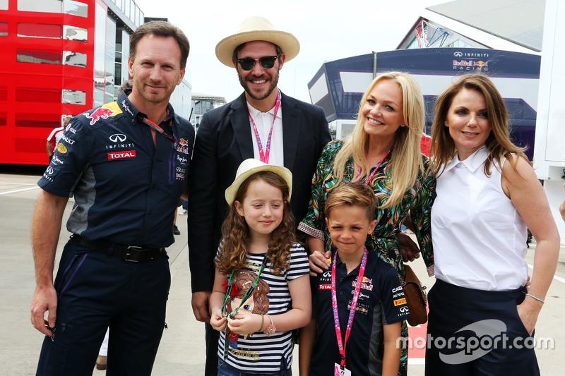 Christian Horner, Red Bull Racing Team Principal dengan Will Young dan Emma Bunton dan Geri Halliwel