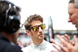 Romain Grosjean, Lotus F1 Team no grid