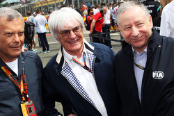 Sir Martin Sorrell, WPP CEO; Bernie Ecclestone y Jean Todt, Presidente de FIA