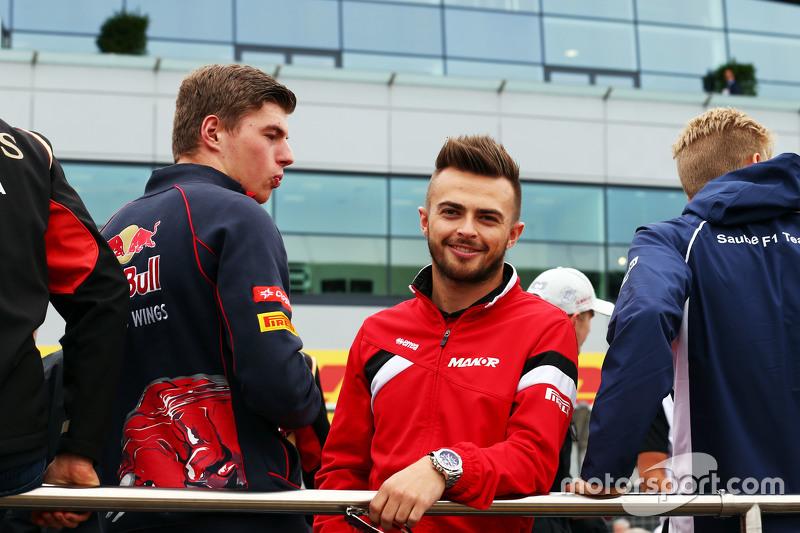 Макс Ферстаппен, Scuderia Toro Rosso з Уілл Стівенс, Manor F1 Team на параді пілотів