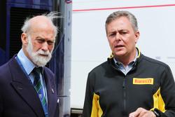 (Von links nach rechts): Prinz Michael von Kent mit Pirelli-Chef Mario Isola