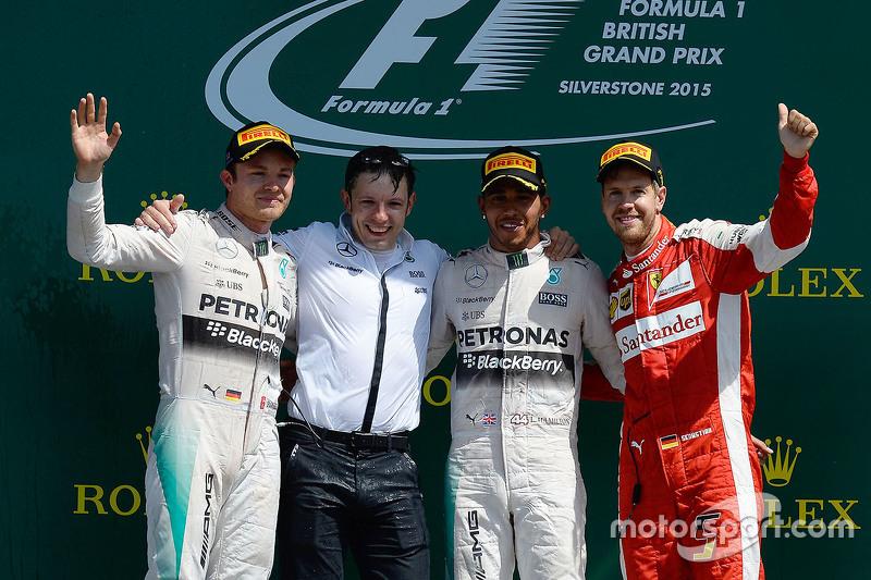 Podium: 1. Lewis Hamilton, Mercedes AMG F1 Team; 2. Nico Rosberg, Mercedes AMG F1 Team, 3. Sebastian
