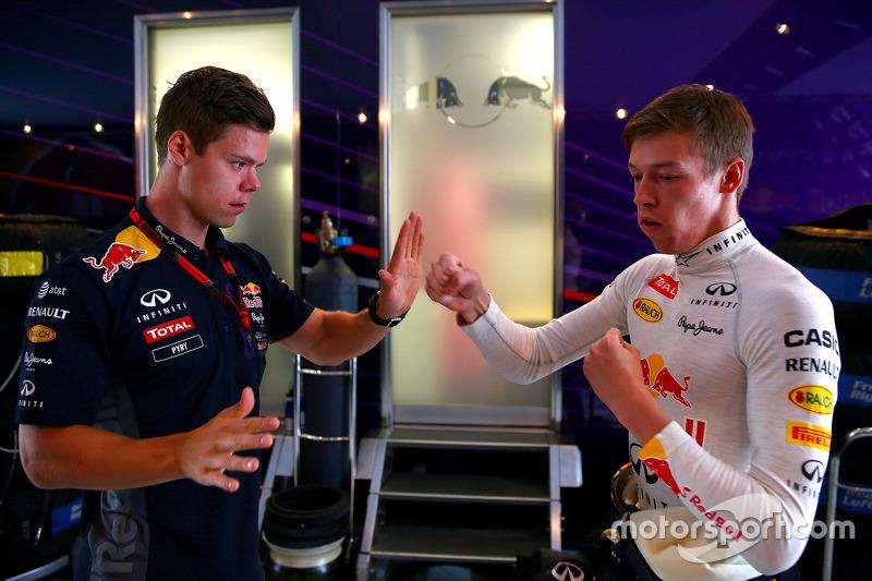 Daniil Kvyat, Red Bull Racing latihan