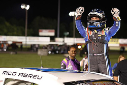 Race winner Rico Abreu celebrates