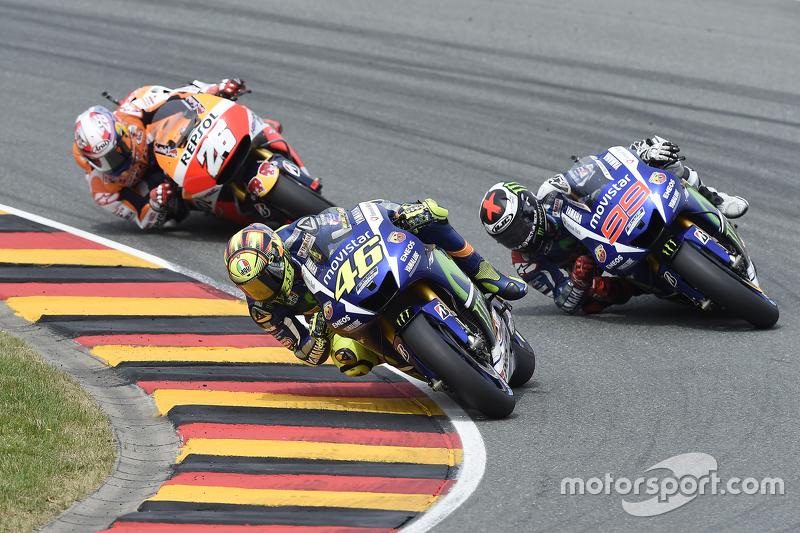 Valentino Rossi dan Jorge Lorenzo, Yamaha Factory Racing dan Dani Pedrosa, Repsol Honda Team