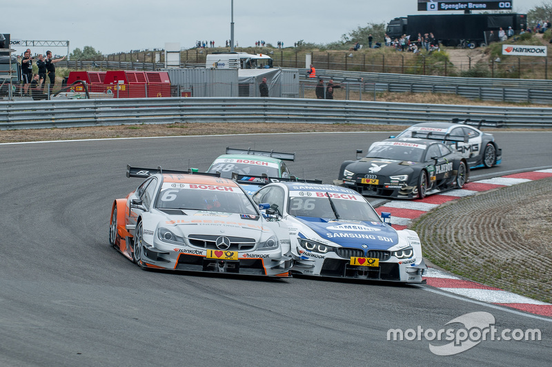 fight between; Robert Wickens, HWA AG Mercedes-AMG C63 DTM; Maxime Martin, BMW Team RMG BMW M4 DTM