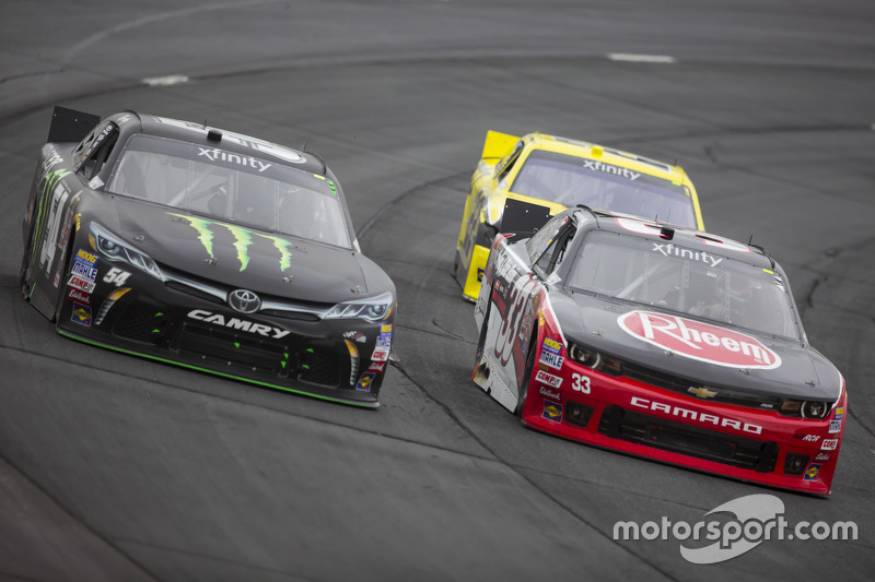 Kyle Busch, Joe Gibbs Racing Toyota andAustin Dillon, Richard Childress Racing Chevrolet