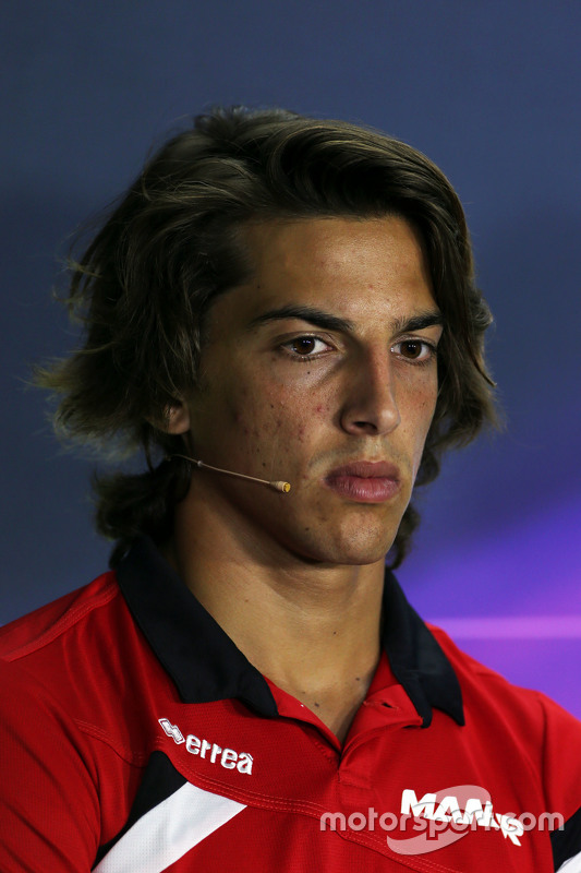 Roberto Merhi, Manor F1 Team in the FIA Press Conference