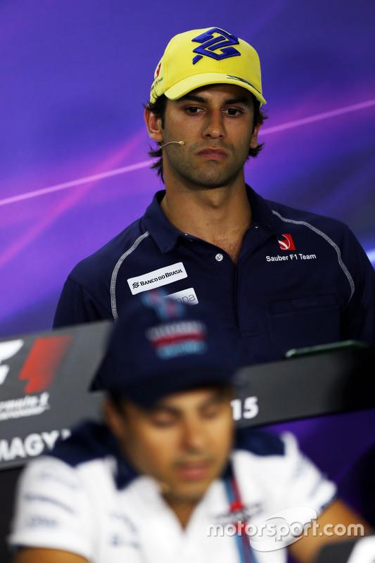 Felipe Nasr, Sauber F1 Team and Felipe Massa, Williams in the FIA Press Conference