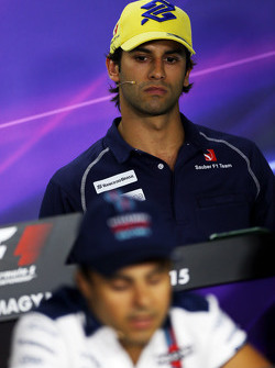 Felipe Nasr, Sauber F1 Team and Felipe Massa, Williams in the FIA Press Conference
