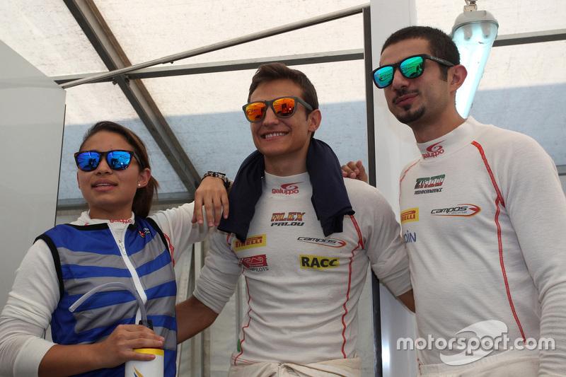 Samin Gomez, Campos Racing, Alex Palou, Campos Racing and Zaid Ashkanani, Campos Racing