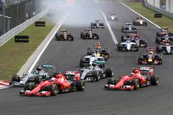 Старт гонки - Себастьян Феттель, Scuderia Ferrari