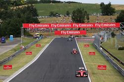 Sebastian Vettel, Ferrari SF15-T leads the race