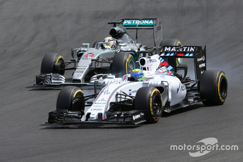 Felipe Massa, Williams F1 Team; Lewis Hamilton, Mercedes AMG F1 Team