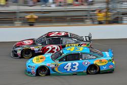 J.J. Yeley, BK Racing Toyota andAric Almirola, Richard Petty Motorsports Ford