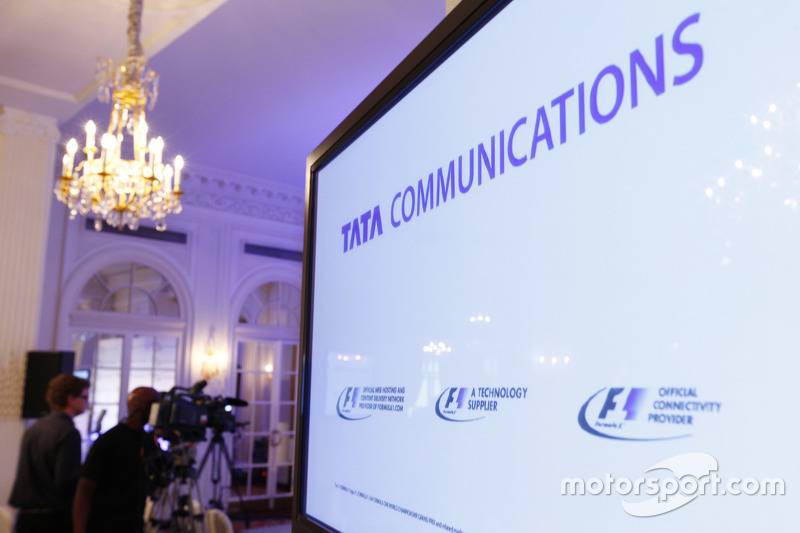 Tata Communications , dan F1 press conference