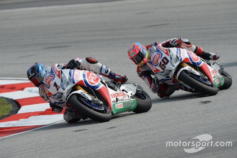 Sylvain Guintoli, Pata Honda, dan Michael van der Mark, Pata Honda