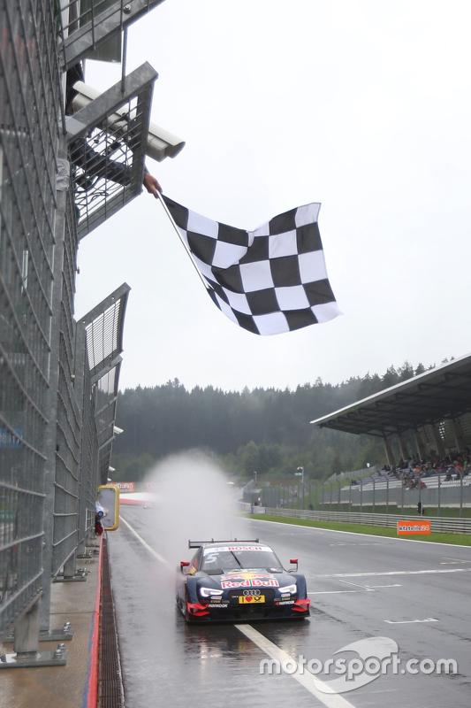 Race winner: Mattias Ekström, Audi Sport Team Abt Sportsline, Audi A5 DTM