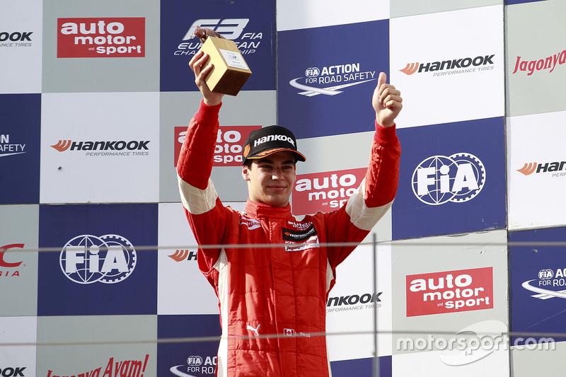 Peringkat ketiga Lance Stroll, Prema Powerteam Dallara Mercedes-Benz