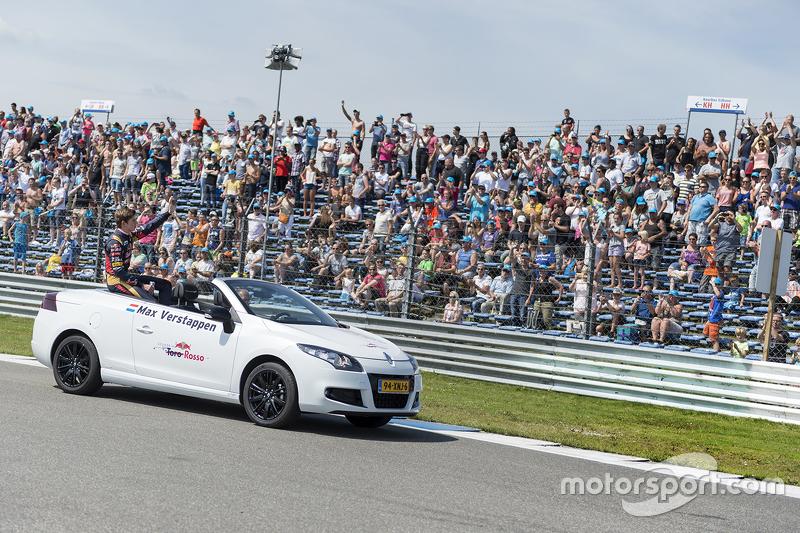 Max Verstappen performs at Red Bull Showrun: Assen