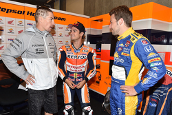 Marco Andretti, Andretti Autosport Honda, dan Dani Pedrosa, Repsol Honda Team, dan Nicky Hayden
