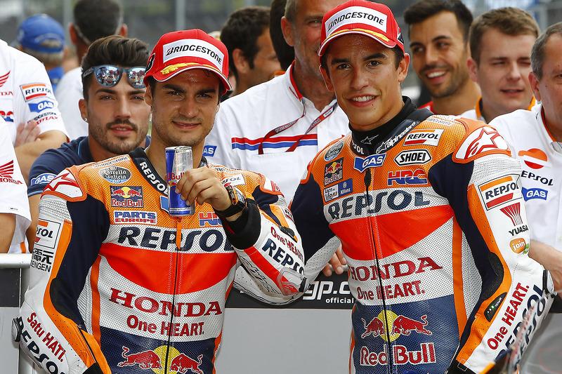 Polesitter Marc Marquez, Repsol Honda Team, second place Dani Pedrosa, Repsol Honda Team