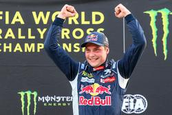 Podium : le vainqueur Davy Jeanney, Team Peugeot Hansen