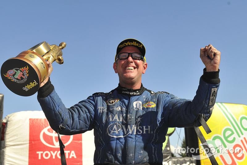 Funny Car winner Tommy Johnson Jr.