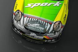 Une livrée spéciale pour Romain Dumas au Rallye d'Allemagne, avec les couleurs Porsche qu'il a portées durant sa carrière