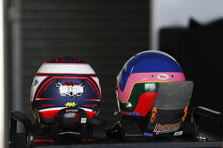 Helmets of Stéphane Sarrazin and Jacques Villeneuve