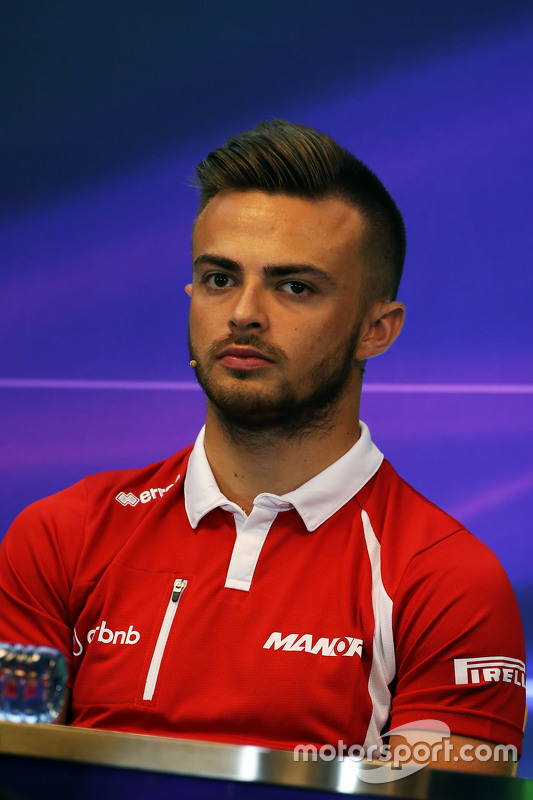 Will Stevens, Manor F1 Team in the FIA Press Conference
