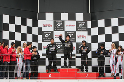 Podium: winner Jose Gerard Policarpio, second place Andika Rama, third place Akshay Gupta