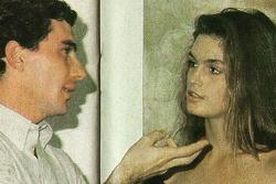 Cindy Crawford mit Ayrton Senna