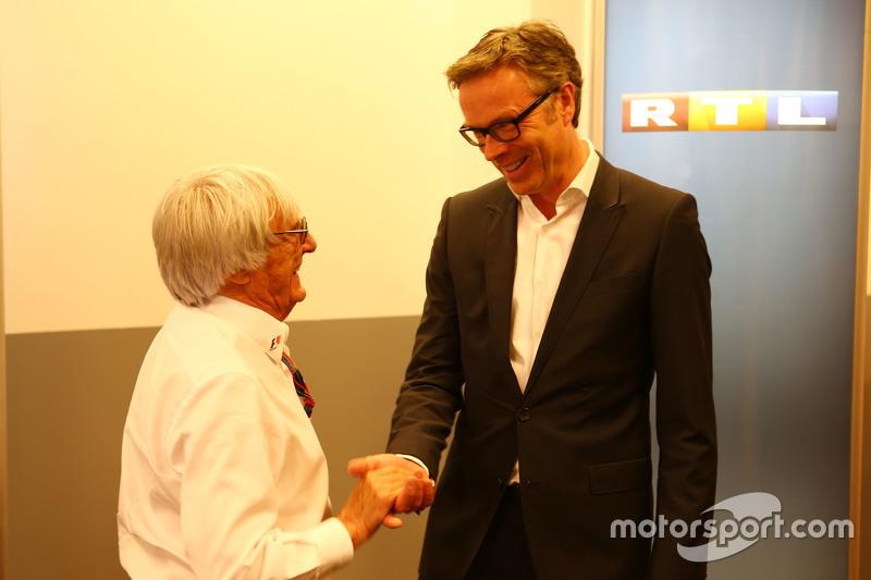 (Kiri ke Kanan): Bernie Ecclestone, dan Frank Hoffmann, RTL Television Programme Managing Director m